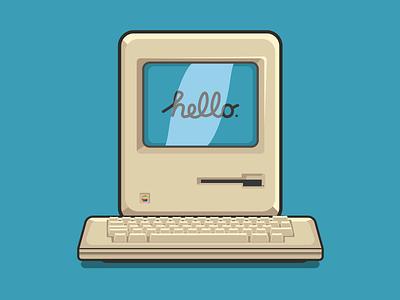Macintosh 🖥️ creative graphicdesign apple mac inspiration vector illustration graphic design graphic vector design illustration