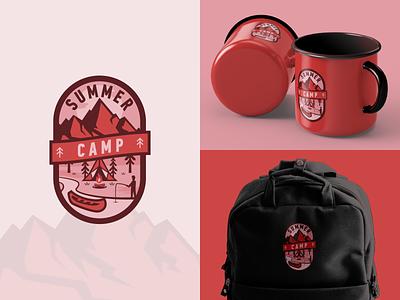 Summer Camp Badge Logo Concept branding creative graphicdesign inspiration vector illustration graphic design graphic vector design illustration