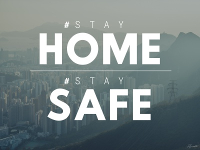 Stay HOME Stay SAFE logo design vector animation typography logo illustration design icon branding app stayhome