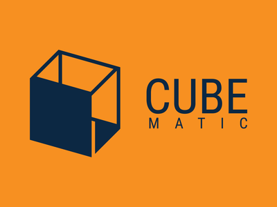 Invert logo design of Cube Matic