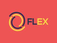 FLEX - Packaging expert typography logo illustration design icon branding app