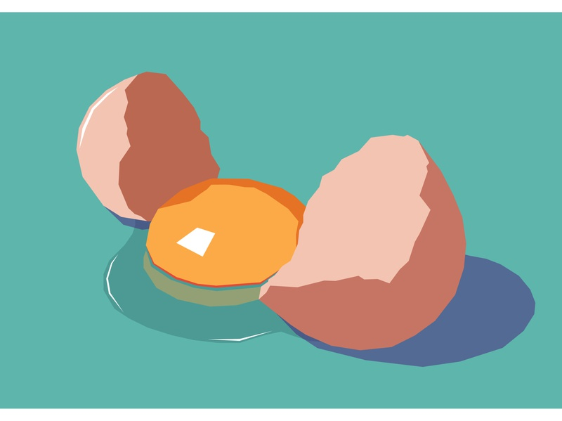 Cracked My Egg colours yolk eggs dribbble healthy love dream food egg typography logo lettering minimal vector flat illustrator illustration design artwork art
