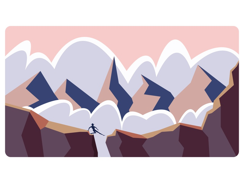 That Stage of Life north daring dangerous hard life clouds mountain branding typography logo lettering minimal vector flat illustrator illustration design artwork art
