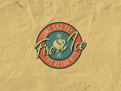 Retro Design Project love restaurant retro vintage ice fire logo design designer ui typography lettering icon branding logo illustrator illustration design artwork art