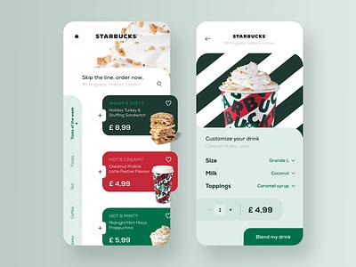 Starbucks order mobile app ui entrepreneurs startups order application design minimal mobile ordering drinks starbucks coffee shop ecommerce app ecommerce modern ux mobile app app design