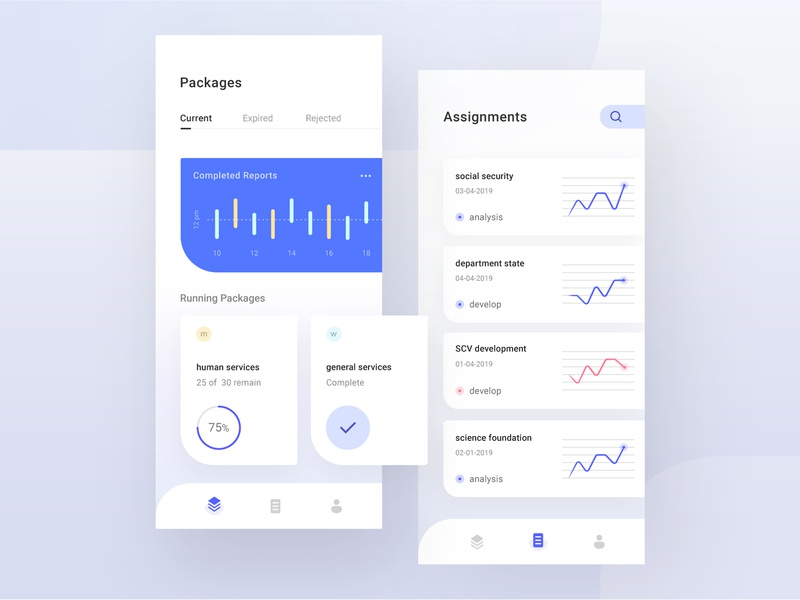 an analysis report app dashboard reporting ux app design user interface ui design ui