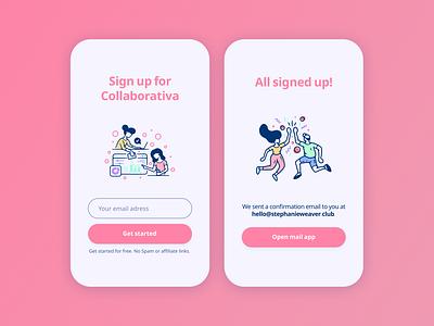 Daily UI #1 — Sign Up design daily ui colors signup mobile ui ui dailyui