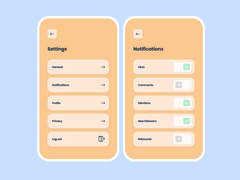 Daily UI #7 — Settings