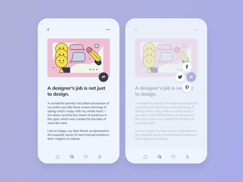 Daily UI #10 — Social share
