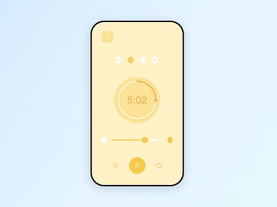 Daily UI #14 — Countdown Timer blue yellow countdown timer egg timer colors ui mobile ui daily ui design dailyui