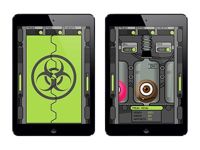Freak Farm illustration design concept game app