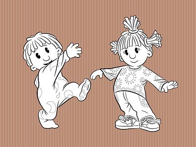 Jim Jam & Sunny illustration