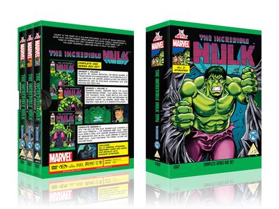 Hulk Box Set design dvd