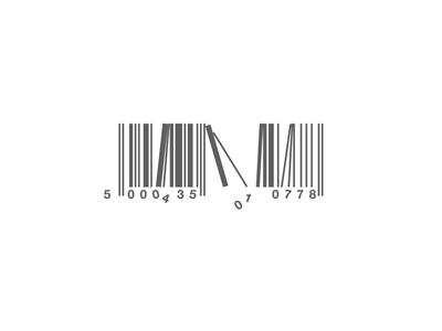 Broken Barcode concept design logo