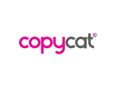 Copycat typeface concept logo