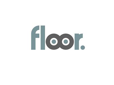 Floor Logo typeface concept logo