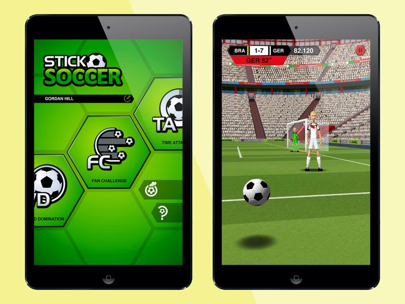 Stick Soccer sticksports football soccer stick ui game mobile illustration design