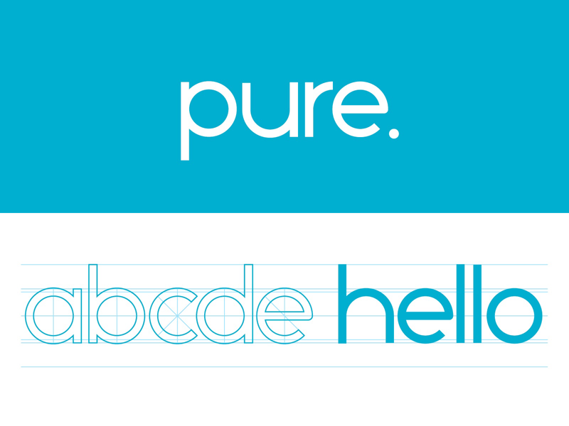 Pure Typeface typography font typeface