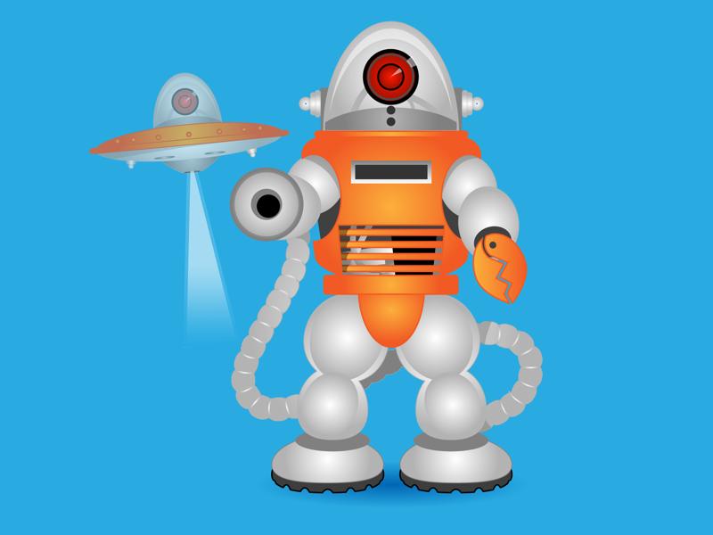 Robot Cricket sticksports mobile game illustration