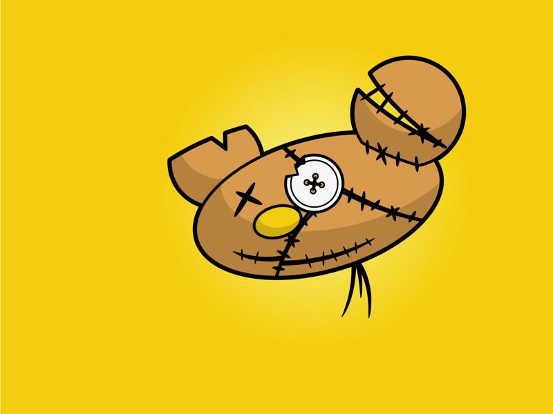 Ted Head teddy ted illustration