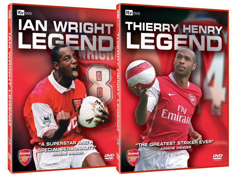 Arsenal Legends packaging arsenal design dvd