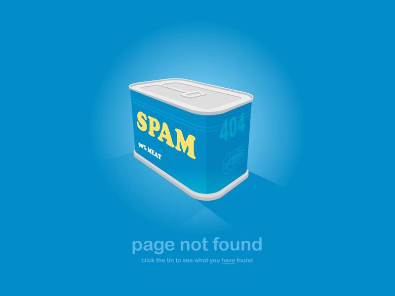 Spam 404 illustration 404