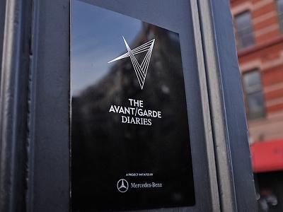 The Avant Garde Diaries branding print environmental