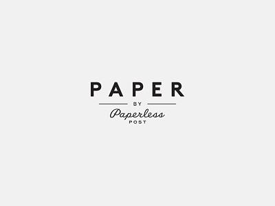 Paper by Paperless Post Identity branding identity logo paperless post