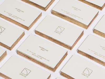 Onto Business Cards business cards logo onto gold