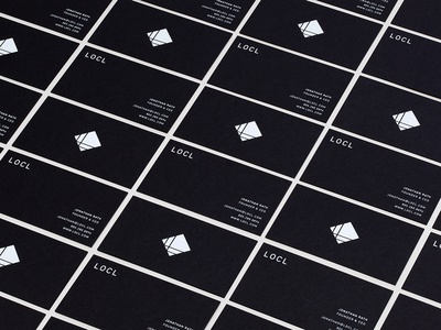 Locl Business Cards branding logo business cards stationery surfing black white simple clean