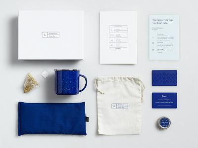 Casper - Good Night Kit casper sleep lavender night gift holiday print packaging blue tea mattress