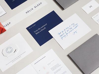 Helix Sleep Branding & Packaging design web editorial envelope stationery cards mattress sleep packaging branding