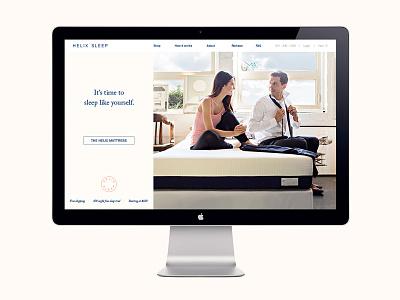 Helix Sleep Branding & Web Design design web ecommerce responsive webdesign mattress sleep packaging branding