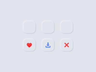 Soft Ui practice userinterface uiux ux simple gui buttons interface designer ui webdesign neomorphism softui uidesign design