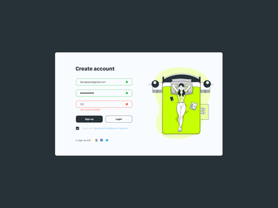 Sign Up Form signupform log in login simple clean interface simple design simple dailyui uiux ui sign in signin sign up ui sign up signup webform web webdesign design