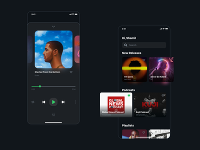 Simple music app UI design app music player music mobile ui mobile round digital music app interface uidesign flat designer dailyui buttons webdesign uiux ui simple design