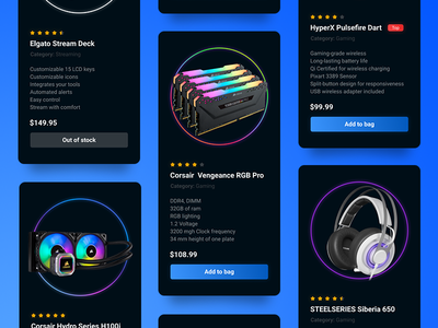 Product Cards | UI Design app interface designer dailyui uidesign cards cards ui product cards product webdesign uiux ui design