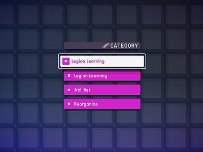 Astral Chain Legion UI ui design menu design 3d nintendo texture fui game app menu ui