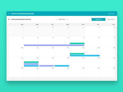 Telescope web app web app schedule app netflix event calendar ui calendar design uiux ux ui