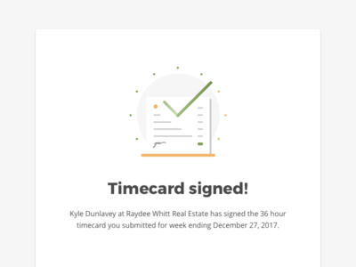Timecard Email card signature paper clock time email icon illustration design graphic