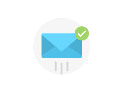 Send Away! send envelope material checkmark email button ui graphic illustration icon