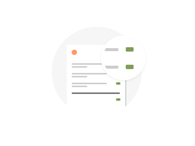 Double Check flat iconography icon ui list inspect invoice email check card