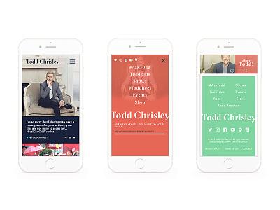 Todd Chrisley Site Design ui navigation mobile