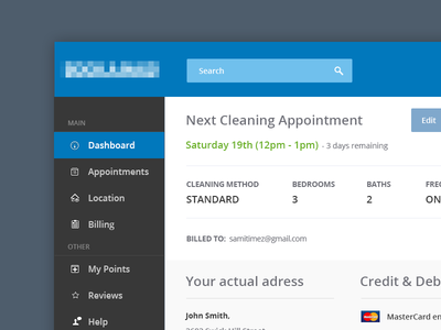 Cleaning Service Dashboard