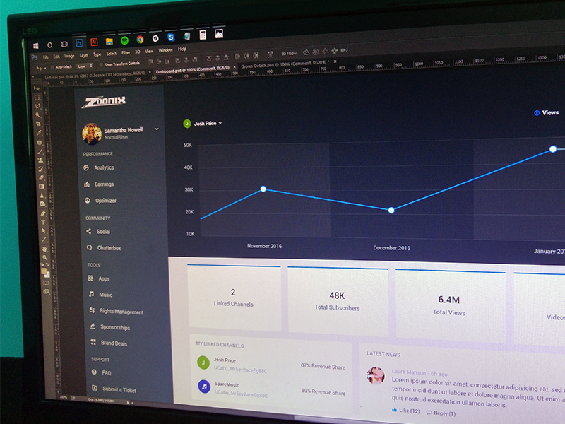 Dashboard redesign clean material design analytics stats web app ux ui dashboard
