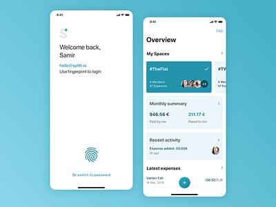 Expense sharing concept iphonex clean simple app user interface ui design app design mobile uxdesign uidesign ios