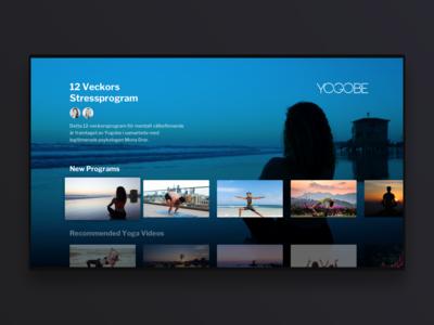 Yogobe TV app concept