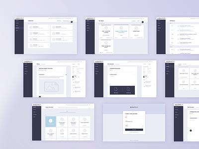 Grapple.io - Wireframes high fidelity sketch research prototype website platform saas app uxdesign uidesign ux ui wireframes