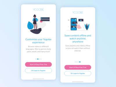 Yogobe - iOS app onboarding