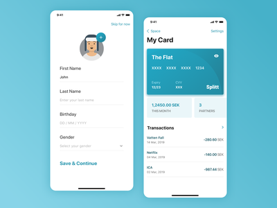 Expense sharing concept profile ios card payment mobile uxdesign uidesign clean ui simple clean iphonex